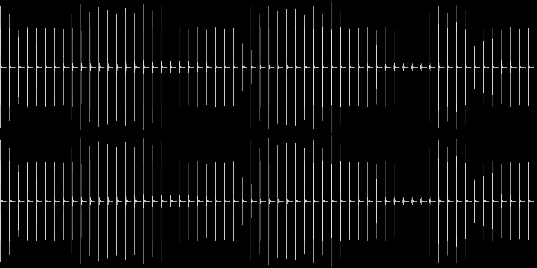 カチッ、カチッ……(時計の秒針)の未再生の波形