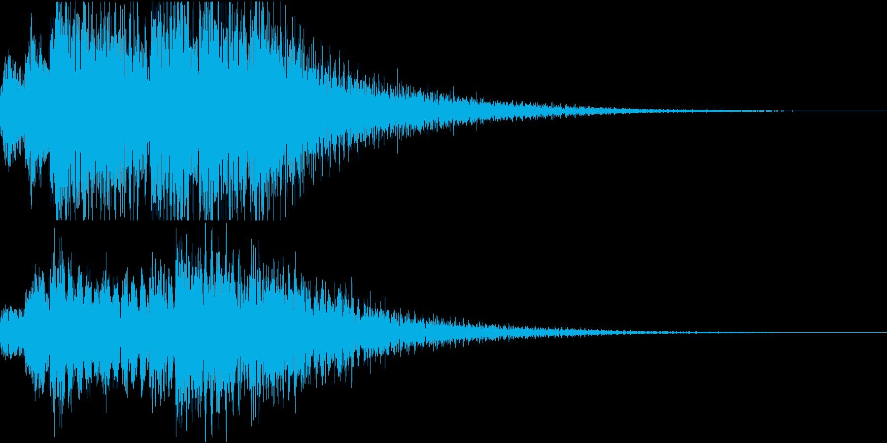 魔法の効果音のようなジングルの再生済みの波形