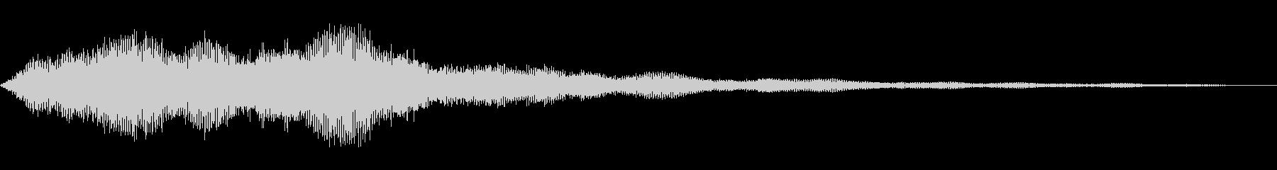 ホラーシーンの演出音_何かが出てくる音の未再生の波形