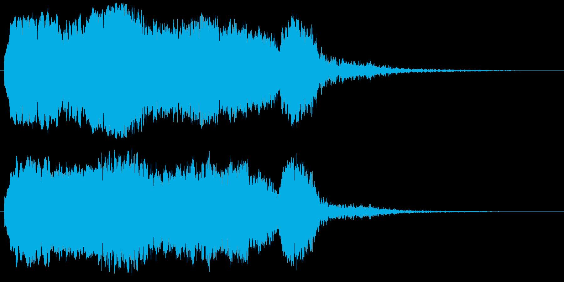死界の叫び声・恐怖サウンド・危険な音源の再生済みの波形