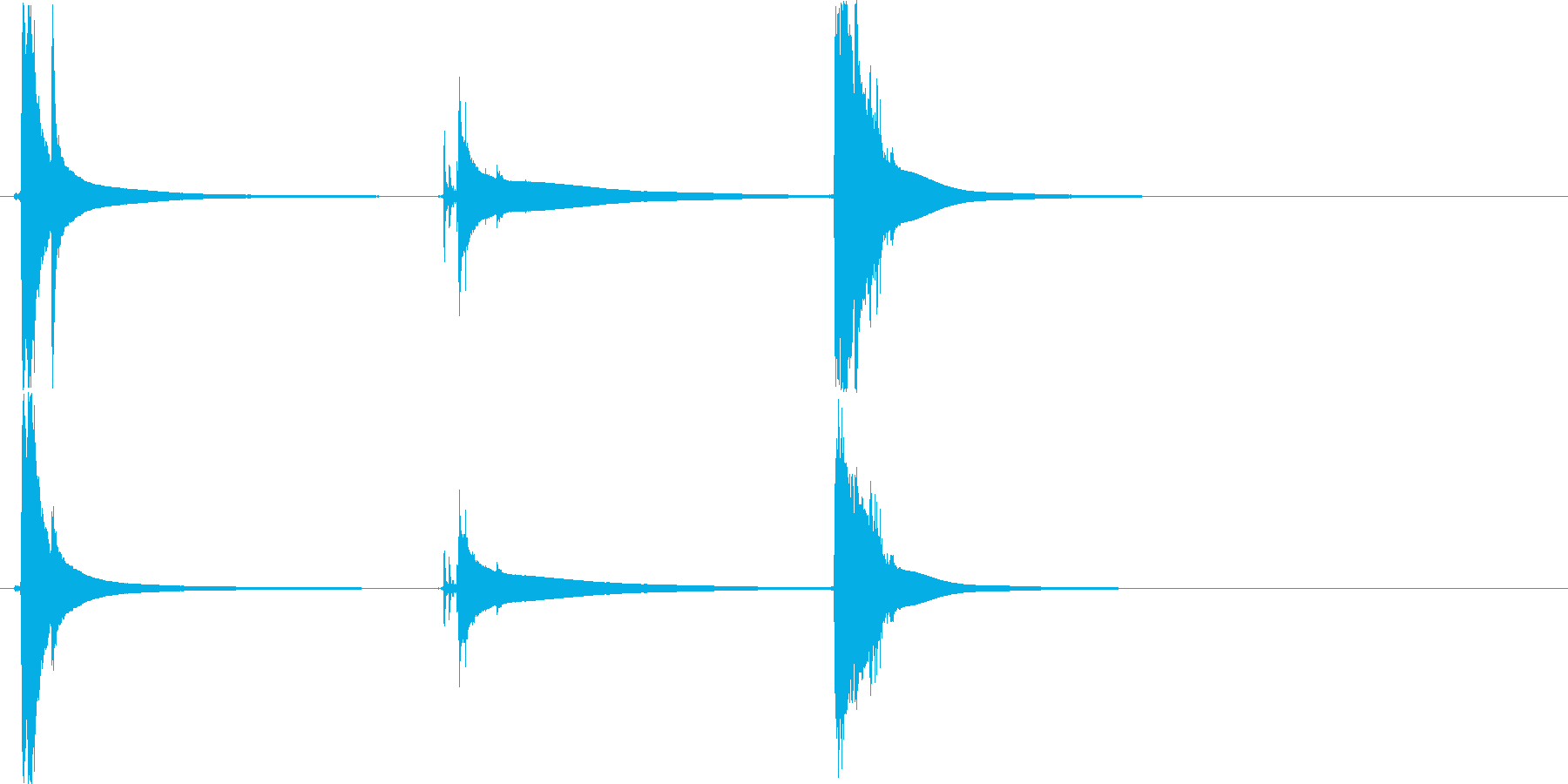 カラーンコロ(クリスタルグラスに氷)の再生済みの波形