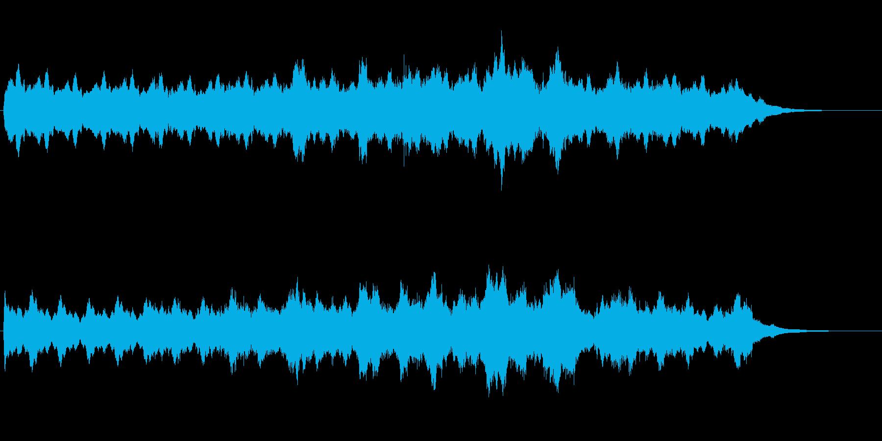 シンセを使ったホラー系BGM(1分+α)の再生済みの波形