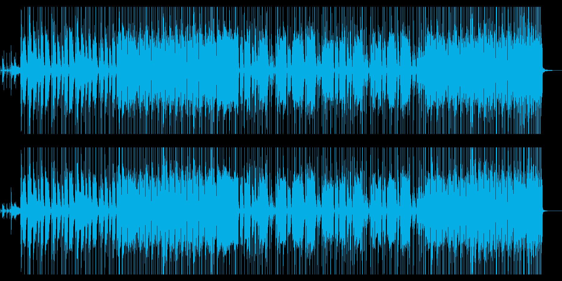 ベースが印象的なファンキー・ロックの再生済みの波形