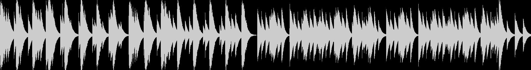 優しくてしんみりするBGM_ループの未再生の波形