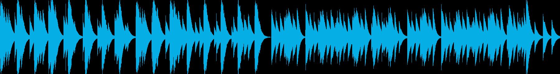 優しくてしんみりするBGM_ループの再生済みの波形