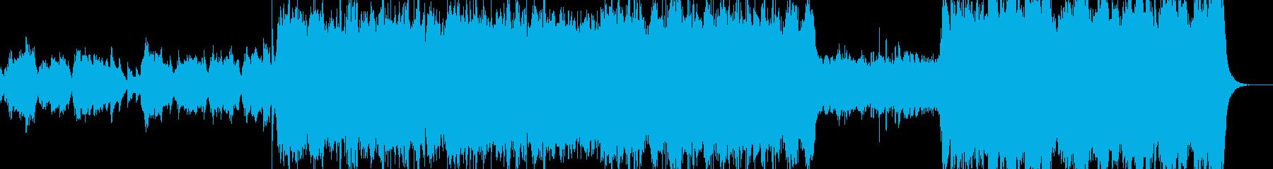 壮大な雰囲気のオーケストラ風の再生済みの波形