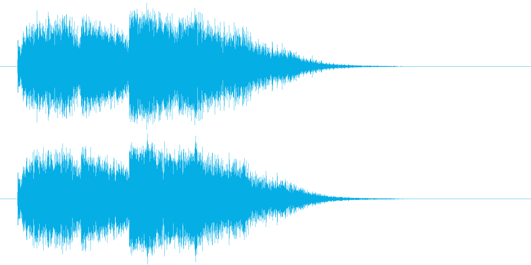 通常数字から確変に昇格の再生済みの波形