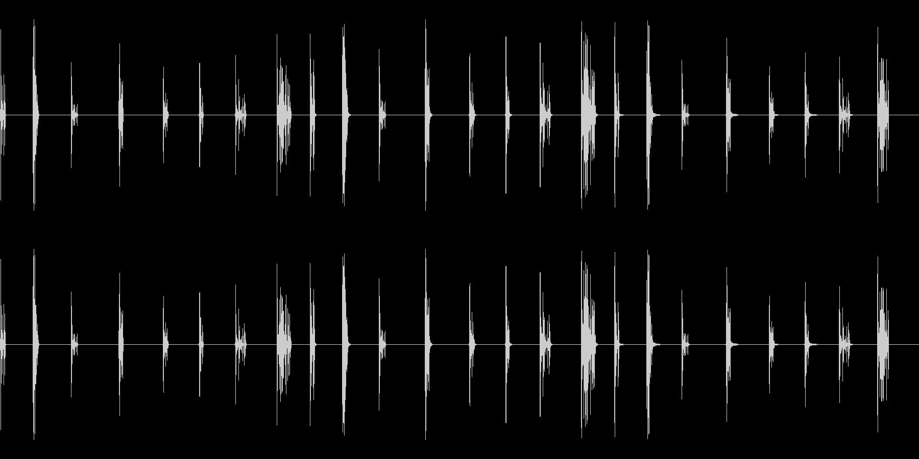 クリスタル、クリスタルブレイクの未再生の波形