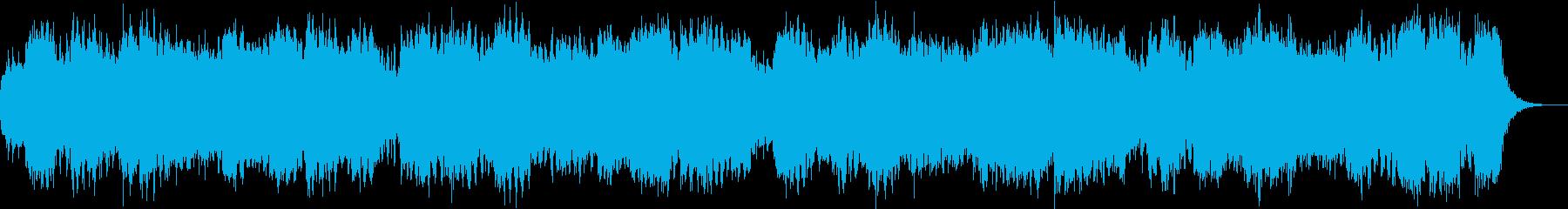 朝を知らせる444Hz音楽の再生済みの波形