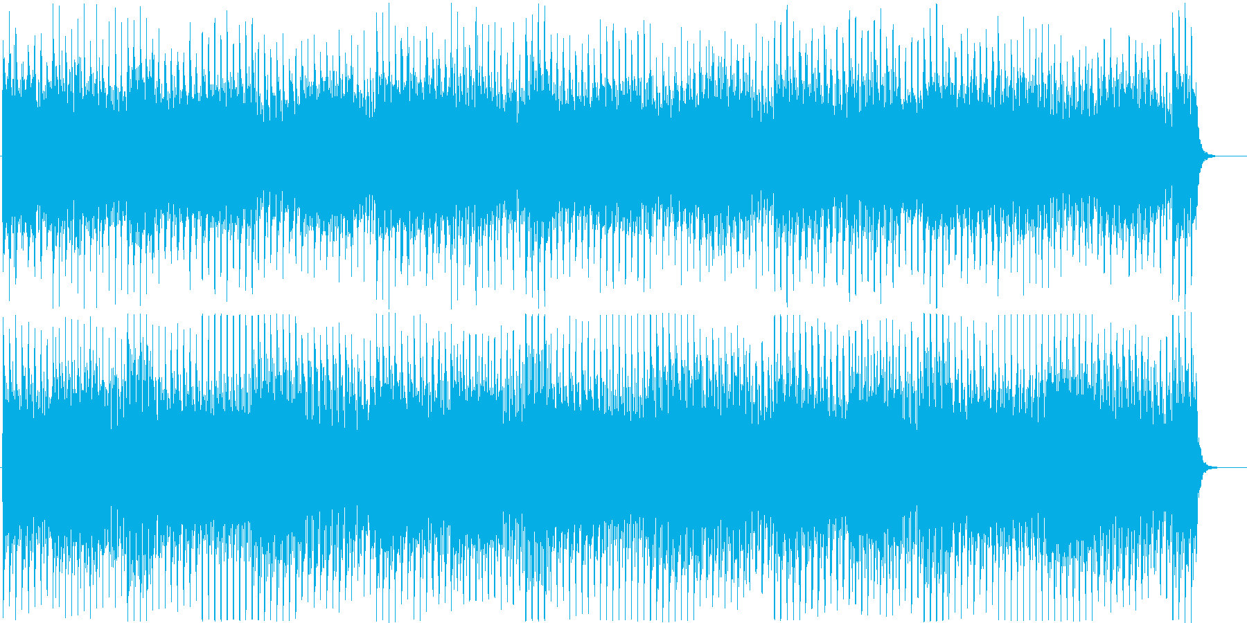 ストリングスによるミニマルなBGMの再生済みの波形