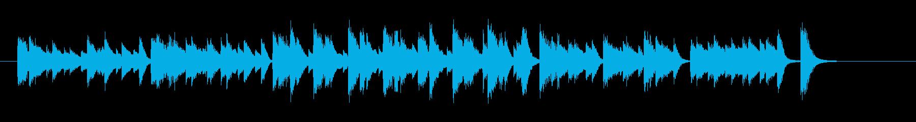 和風ブルース調のピアノジングルの再生済みの波形