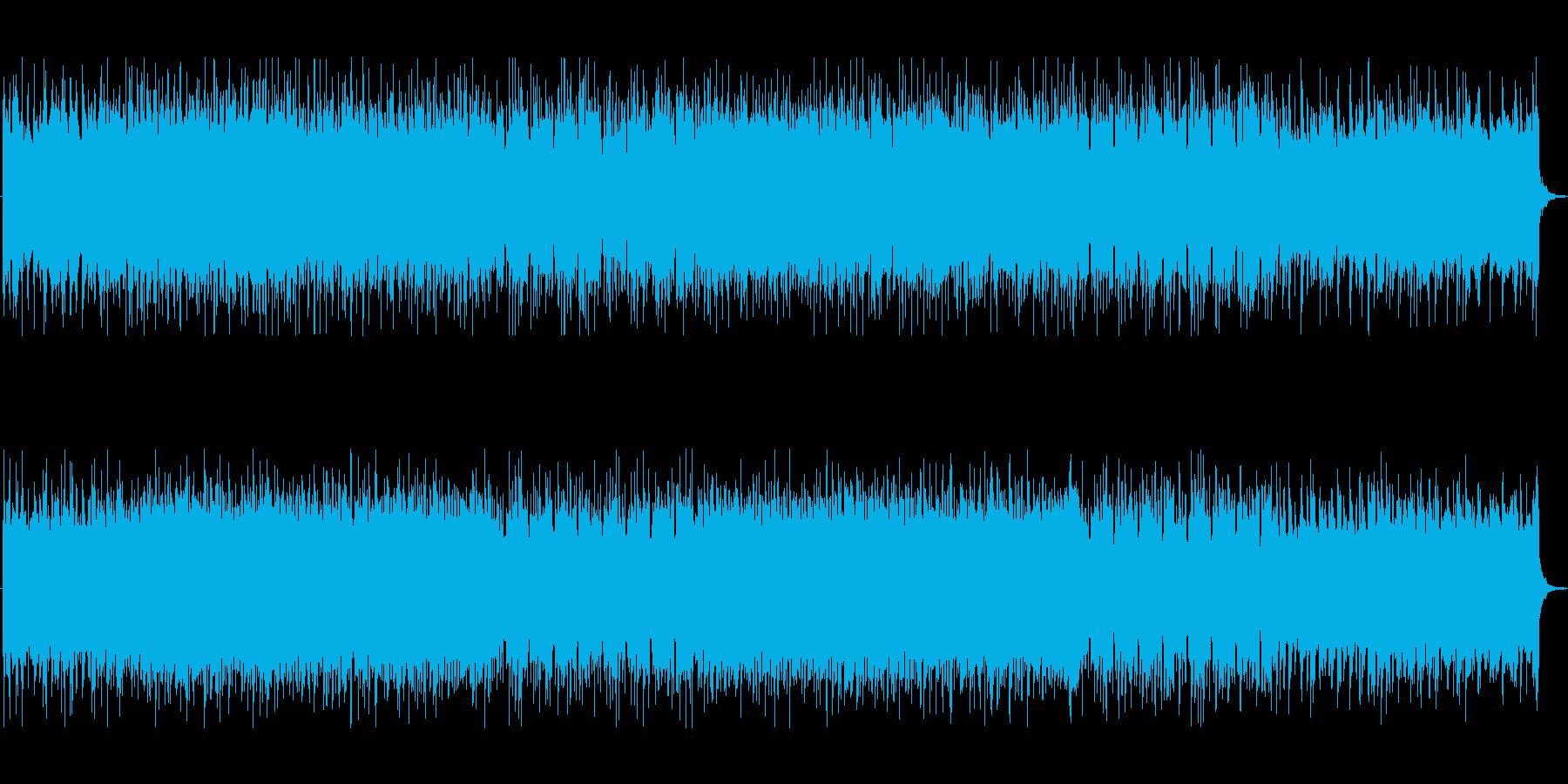 軽快でポップな宇宙空間 シンセ曲の再生済みの波形