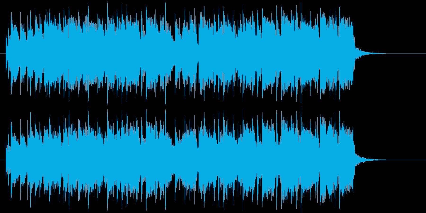 明るく軽快でエレクトーンが印象的なBGMの再生済みの波形