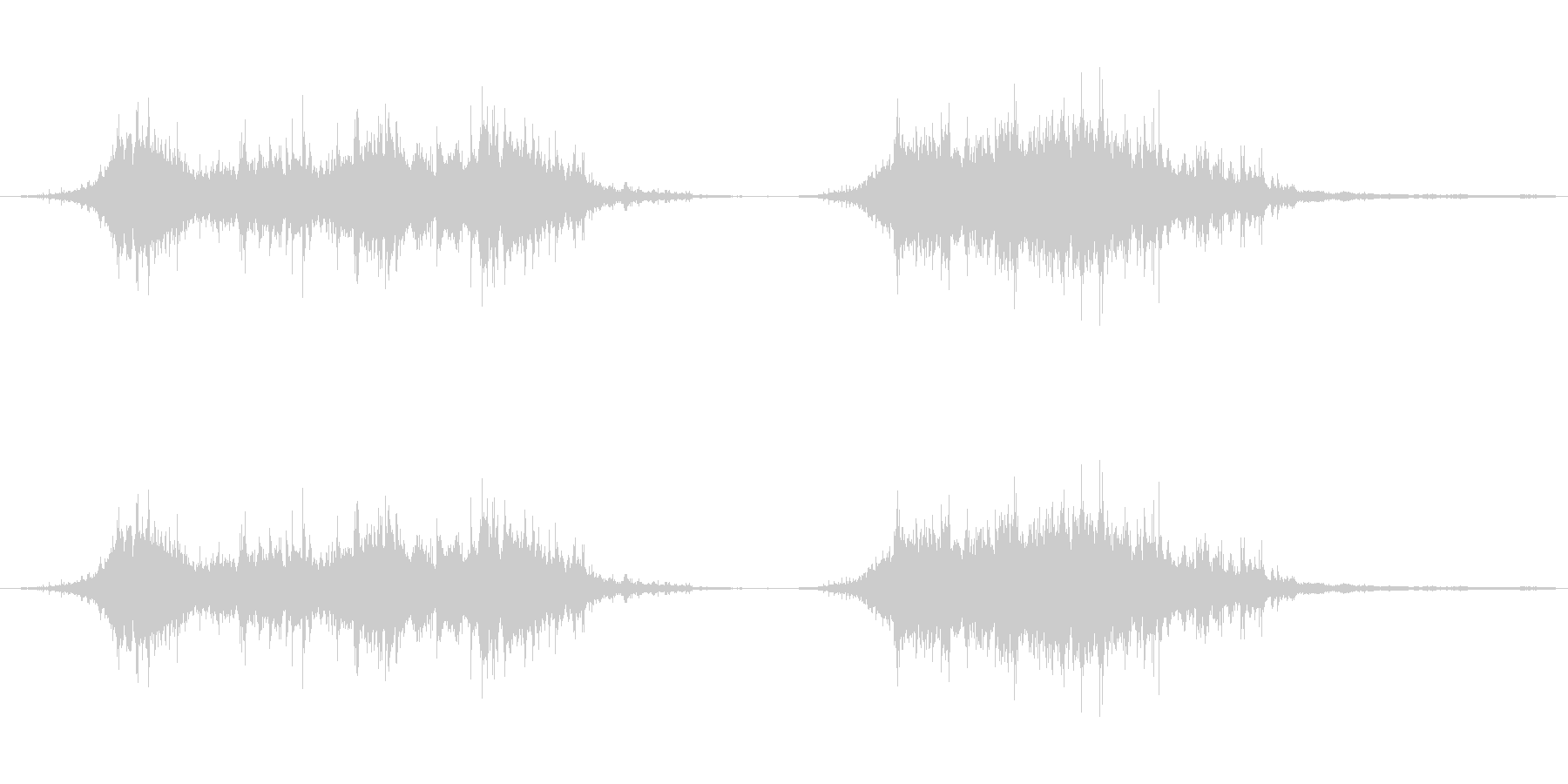 羽ばたく鳩の群れ、2回の未再生の波形