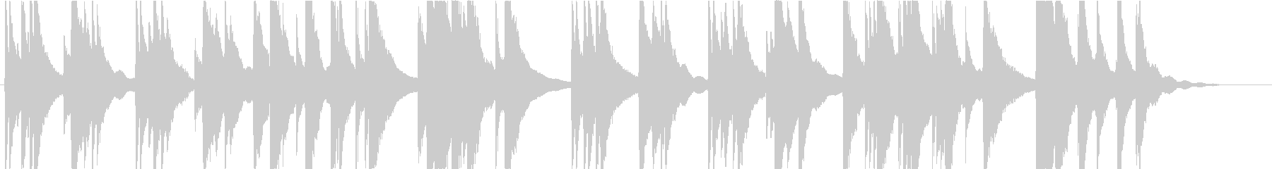 アコースティックギターソロBGMの未再生の波形