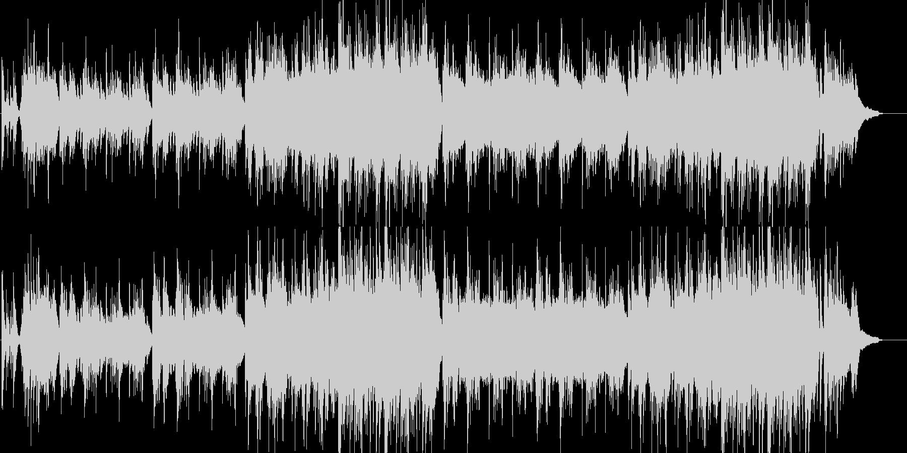 美しいピアノと弦の感動的なバラードの未再生の波形