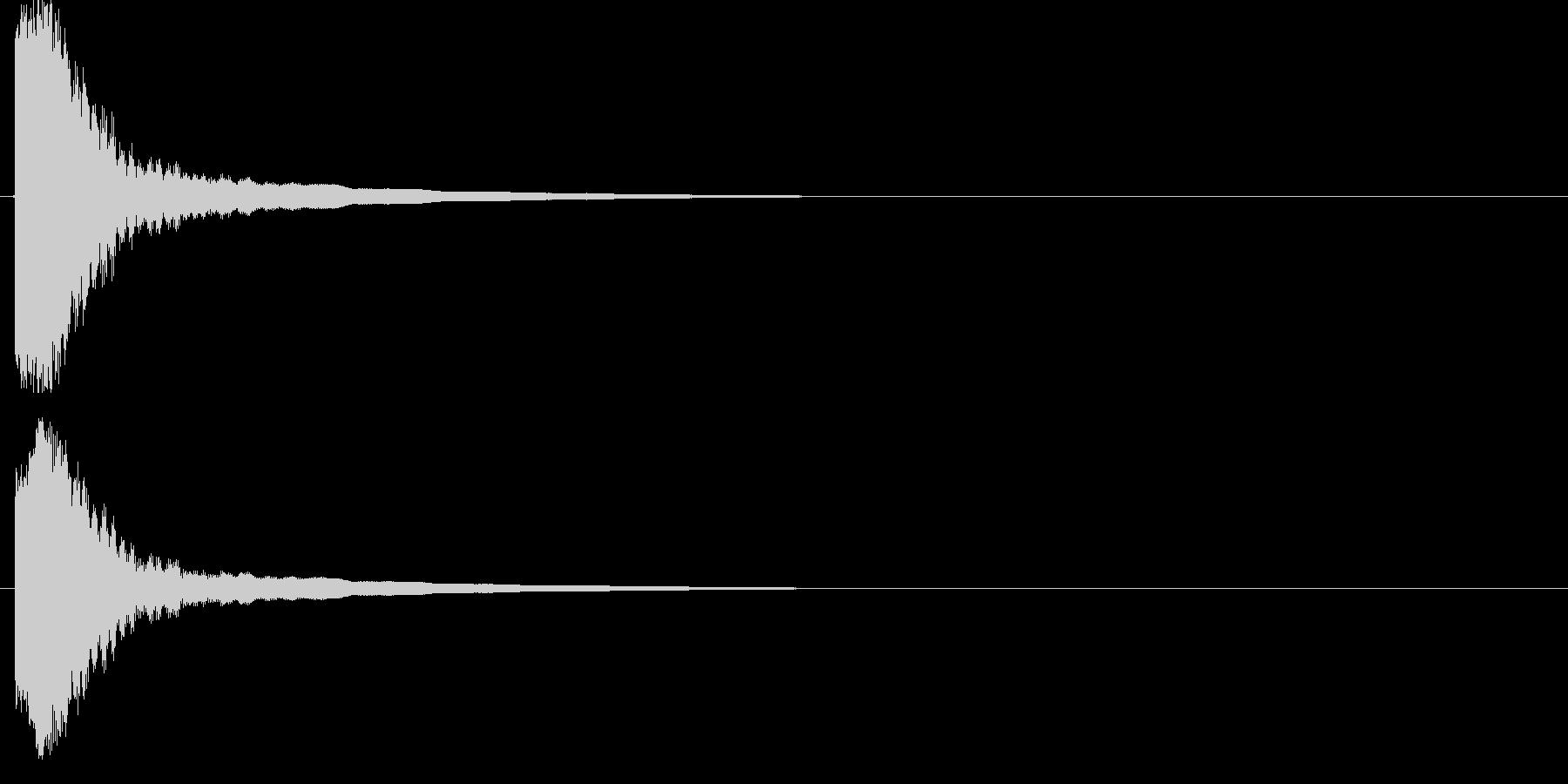 【刀剣:金属】ヒット・軽く3の未再生の波形