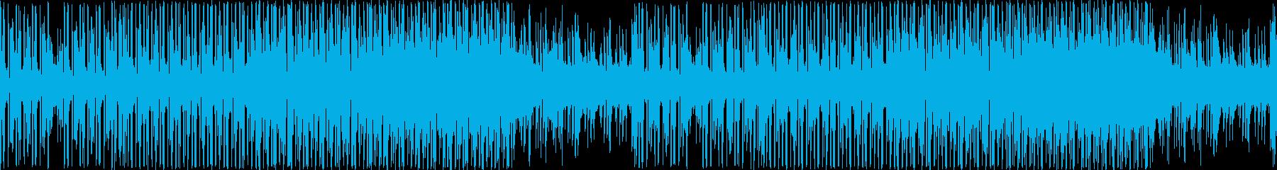 シンプルで無機質なテクノ/ループ仕様の再生済みの波形
