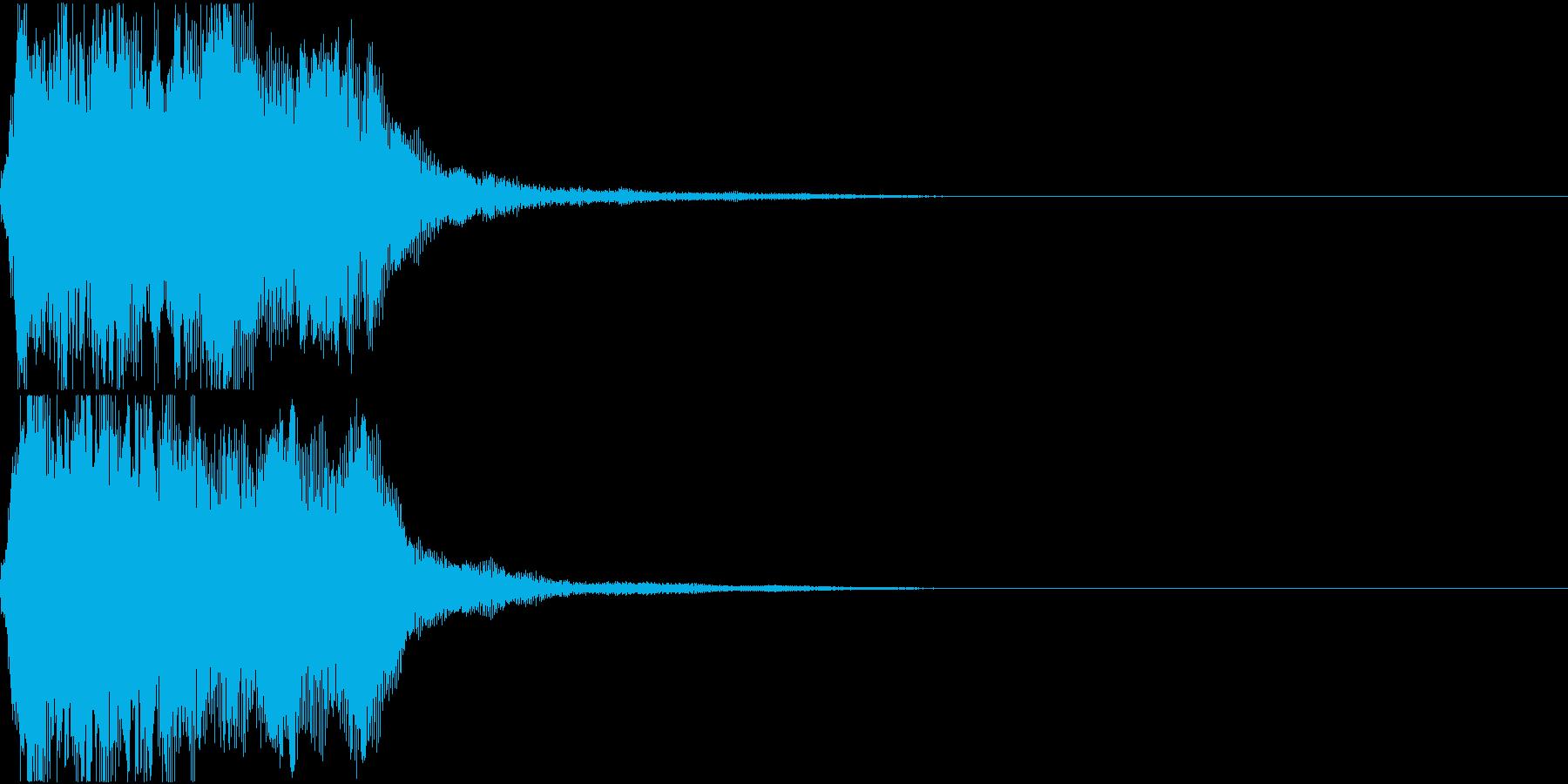 ラッパ ファンファーレ 定番 20 早いの再生済みの波形