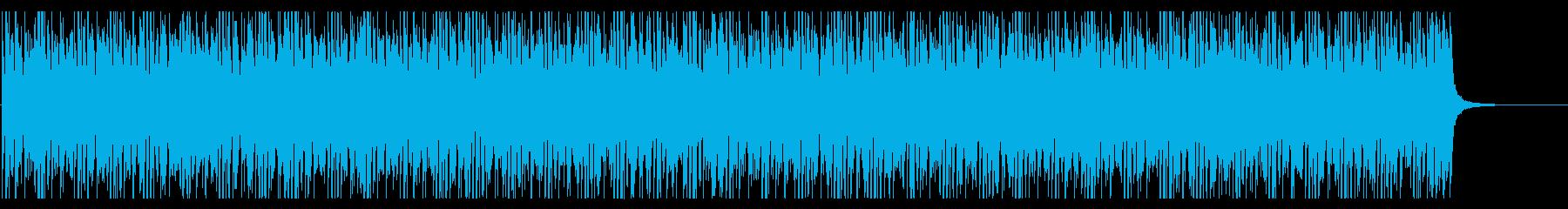 明るくてシンプルな曲調のエレクトロニックの再生済みの波形