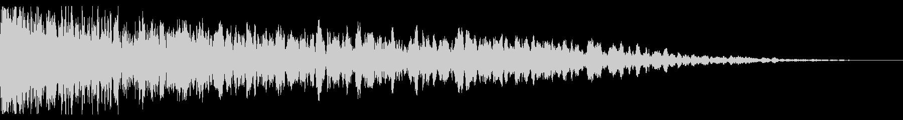 中空スプリングメタルヒットの未再生の波形