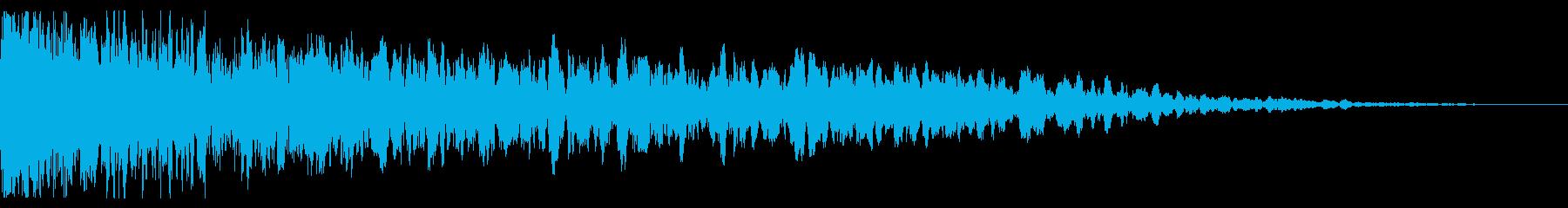 中空スプリングメタルヒットの再生済みの波形