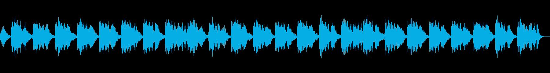 ゆったりとお部屋に漂う癒やしの音楽の再生済みの波形