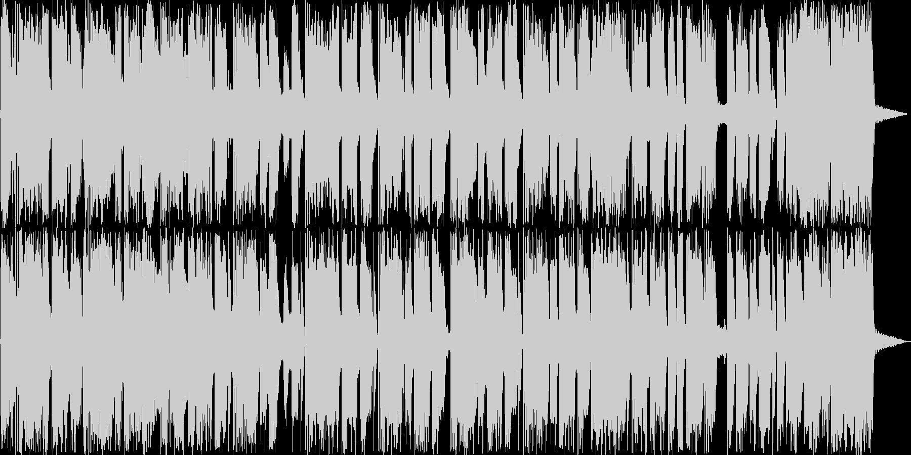 ホーンとドラムのファンキーなサウンドの未再生の波形