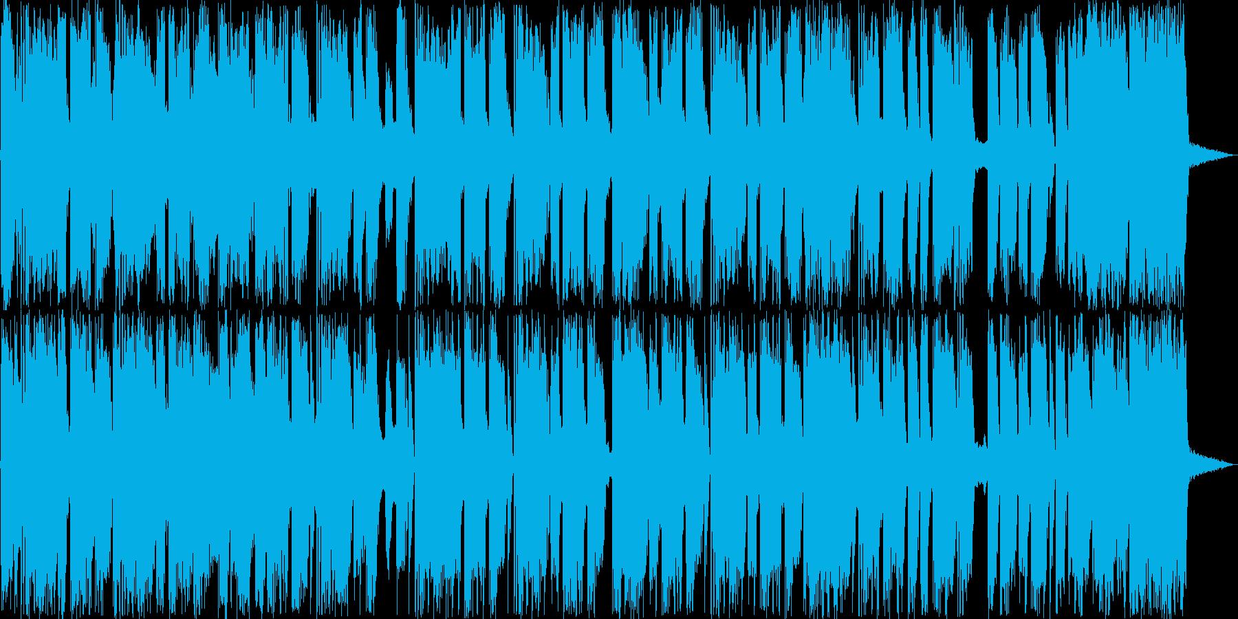 ホーンとドラムのファンキーなサウンドの再生済みの波形