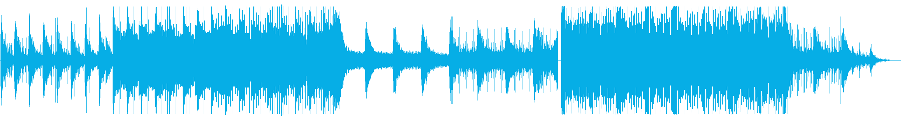 雨のイメージのゆったりとしたエレクトロの再生済みの波形