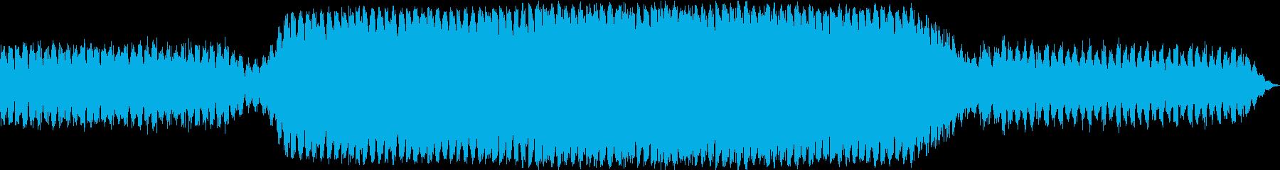人間の内面をイメージした音楽の再生済みの波形