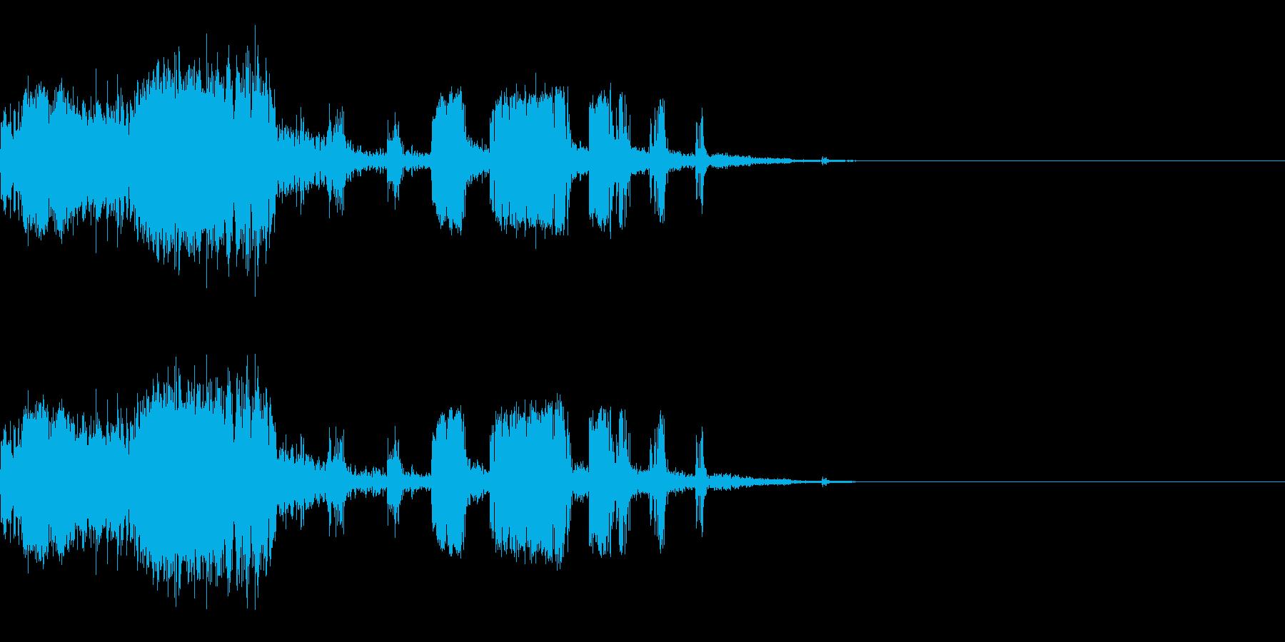 スパーク音-42の再生済みの波形