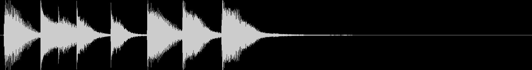 ピアノジングル 幼児向けアニメ系J-02の未再生の波形