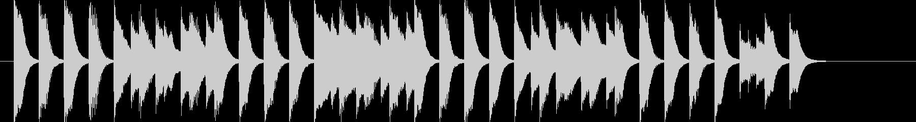 軽快なほのぼのピアノ曲の未再生の波形