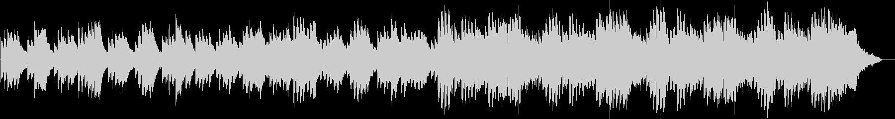 ピアノを主体とした静かめのBGMの未再生の波形