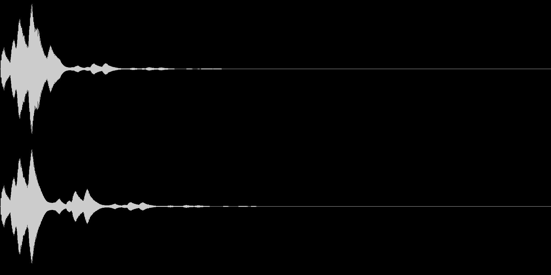 ピロリン(論題・題目・トピック音)の未再生の波形