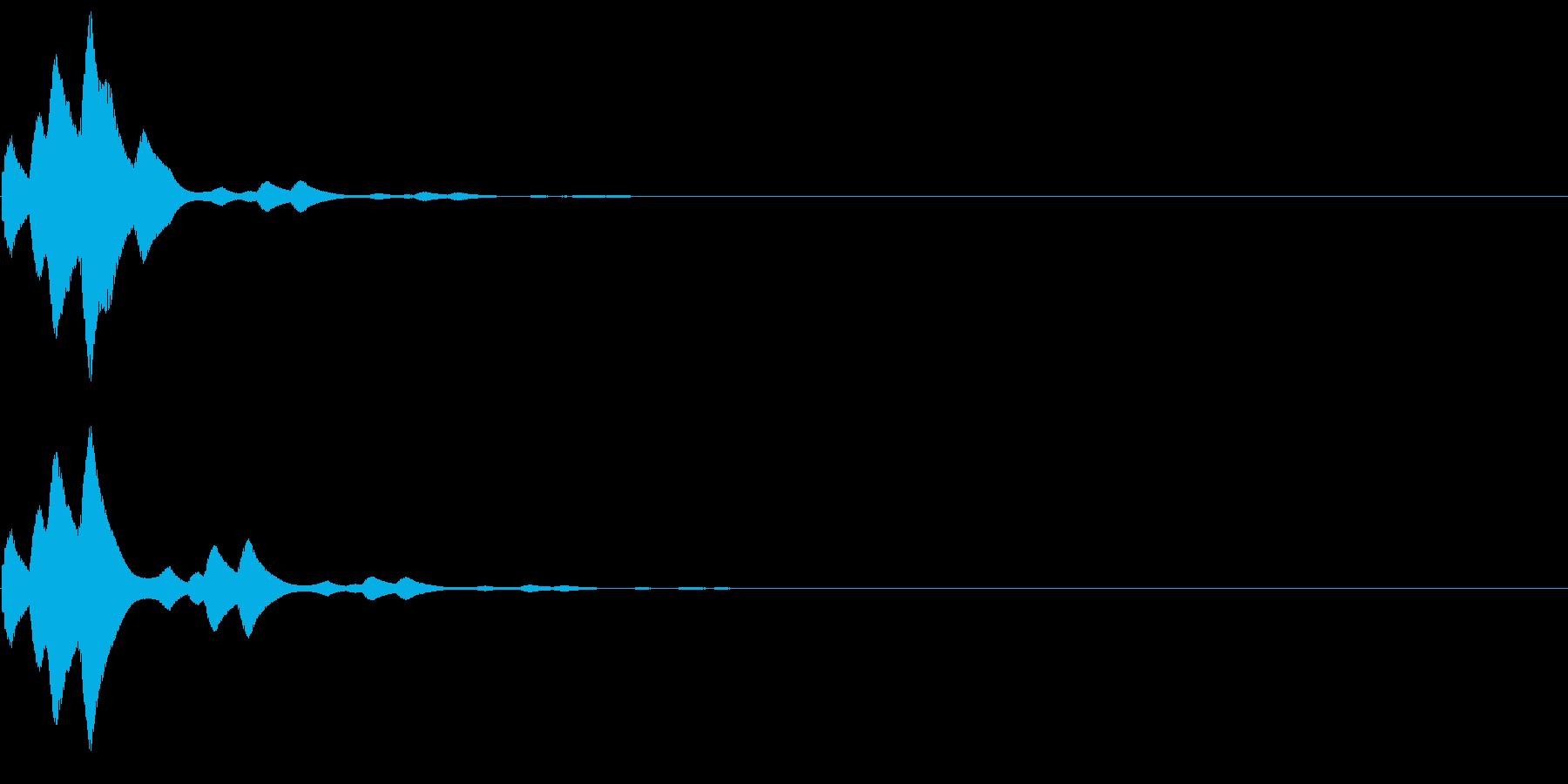 ピロリン(論題・題目・トピック音)の再生済みの波形