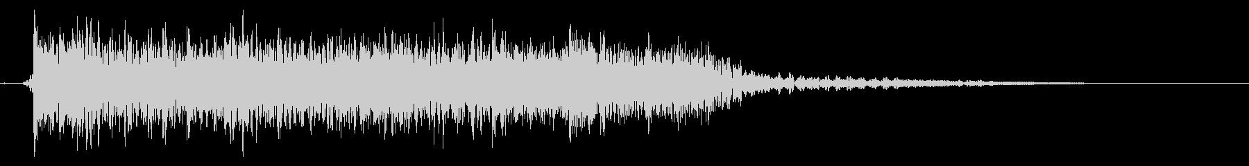 メタルサウンドのSEの未再生の波形