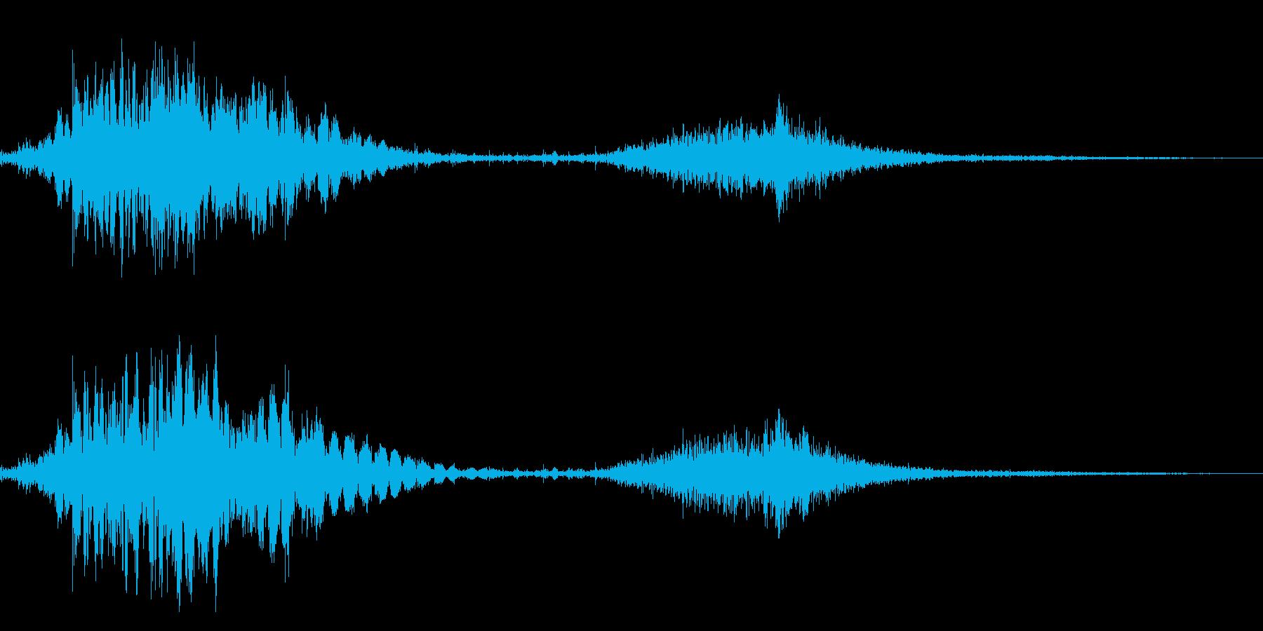 斬撃音!(刀や剣で斬る/刺す効果音)8bの再生済みの波形