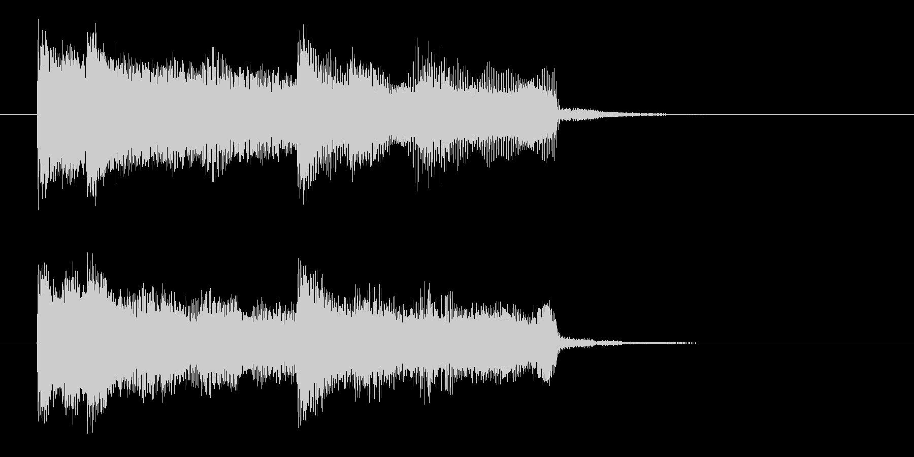 シンセとエレキのワイルドロックなジングルの未再生の波形