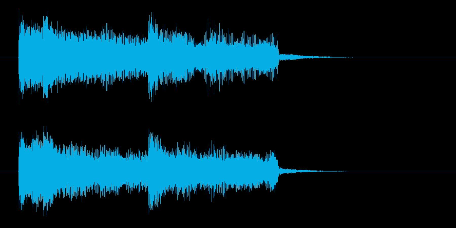 シンセとエレキのワイルドロックなジングルの再生済みの波形