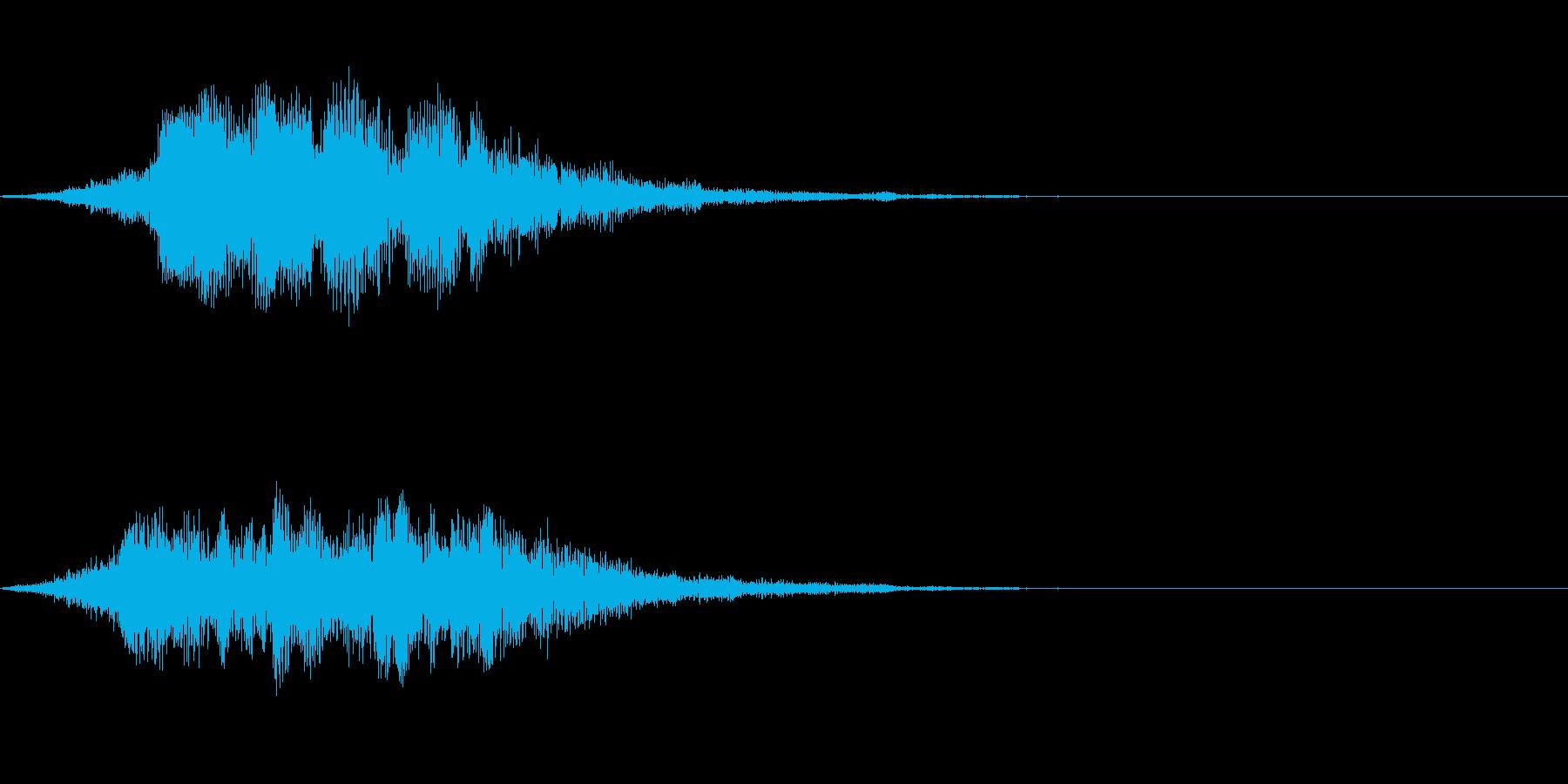 ファンタジー転送の再生済みの波形