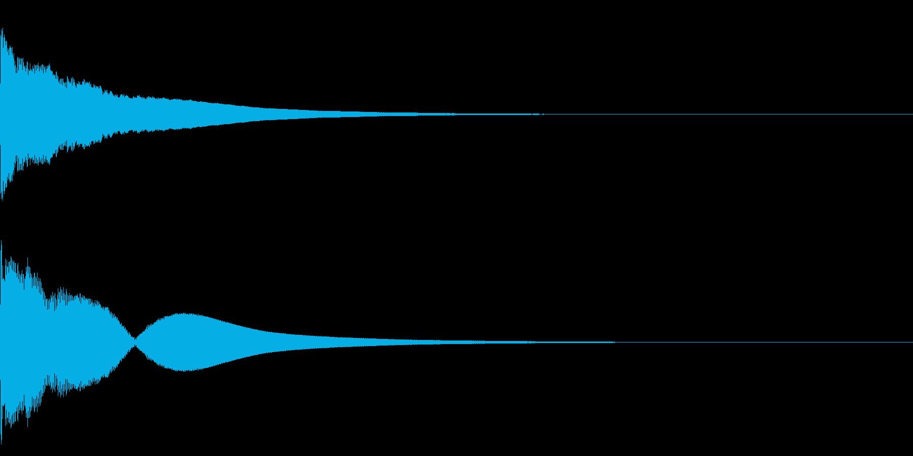 瞑想のための鐘Eの再生済みの波形