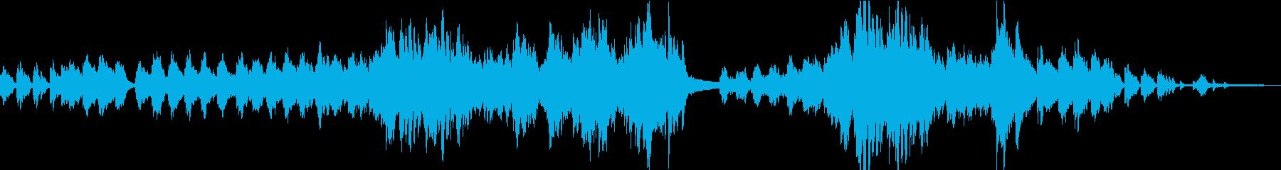 爽やかで優しいメロディが印象的なピアノ曲の再生済みの波形