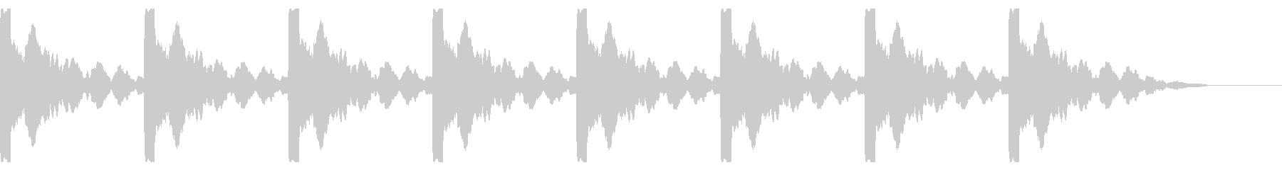 ソナー:残響ピンの未再生の波形