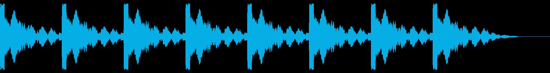 ソナー:残響ピンの再生済みの波形