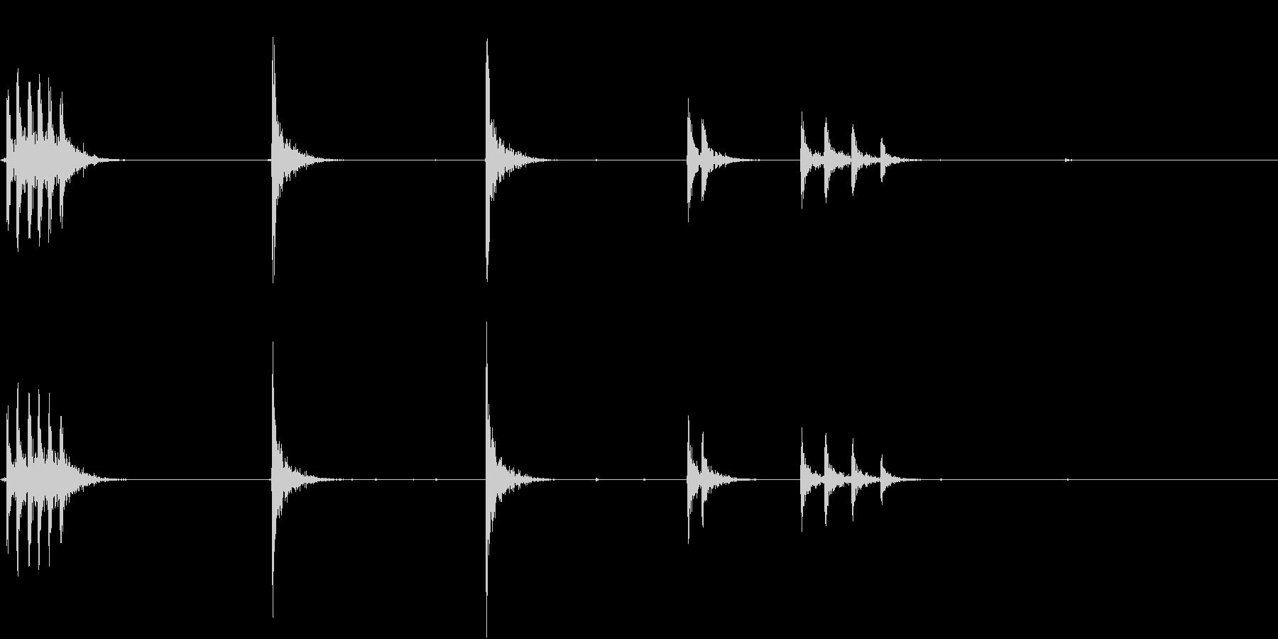 【生録音】 オフィスチェアのきしみ 6の未再生の波形