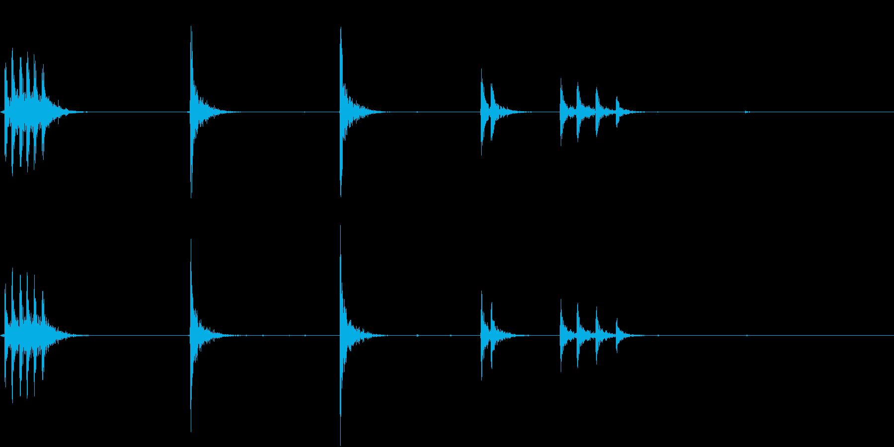 【生録音】 オフィスチェアのきしみ 6の再生済みの波形