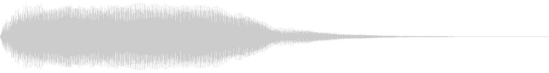 【でーん・・・】何かに気付いた際の効果音の未再生の波形
