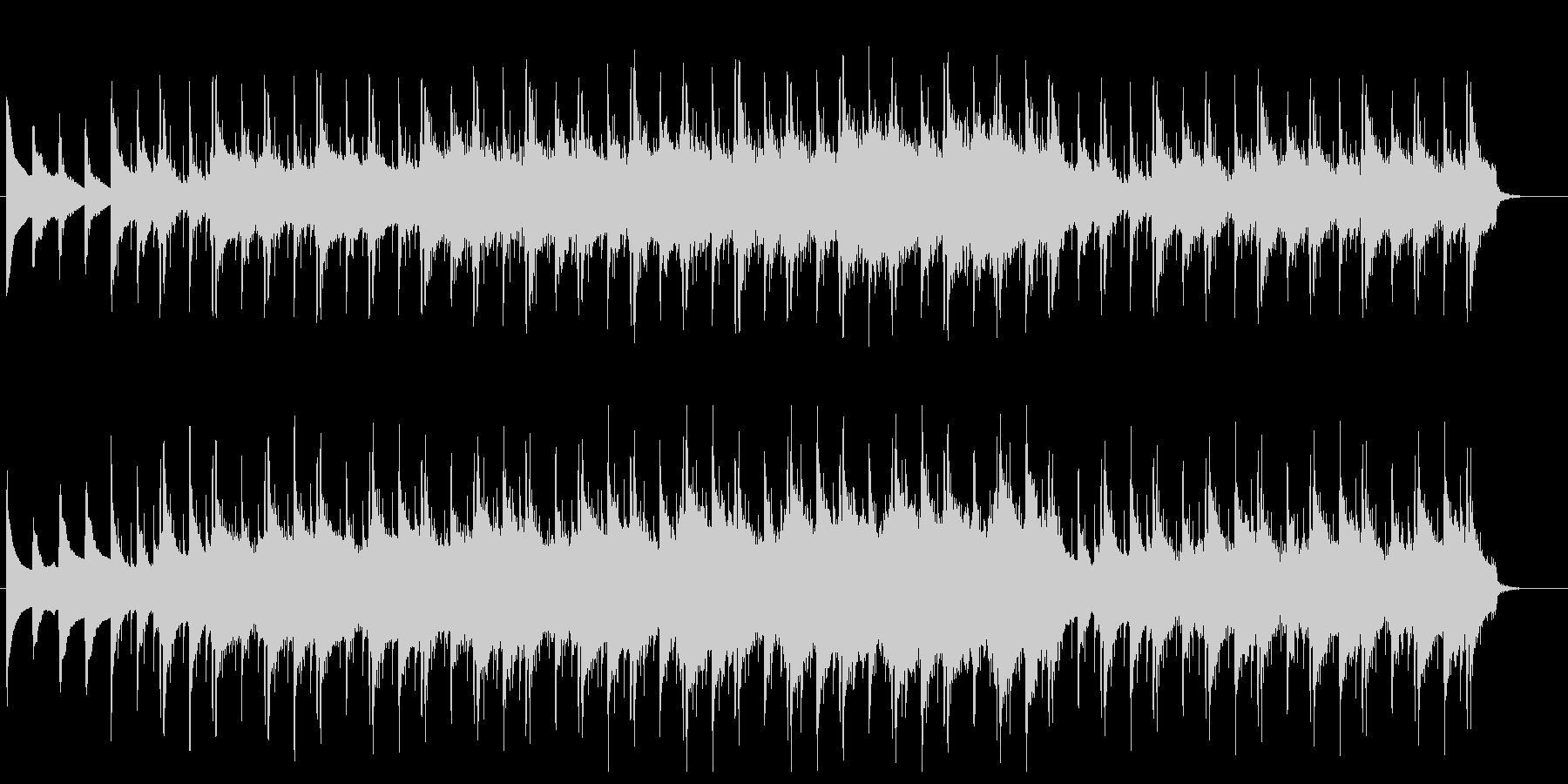 ミディアムテンポのデジタル系の楽曲の未再生の波形